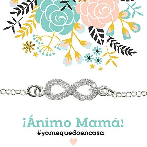Pulsera Infinito Te Quiero Mamá de Plata de Ley 925 - Regalos para dar ánimo #YoMeQuedoEnCasa