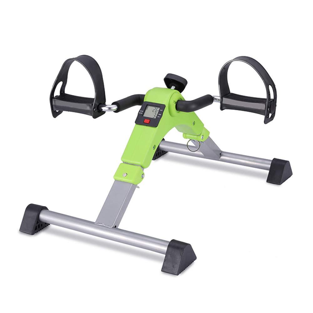 JXW-bike Folding Heimtrainer Portable Pedal Exerciser Mit Elektronischer Anzeige und Einstellbarer Widerstand,Grün