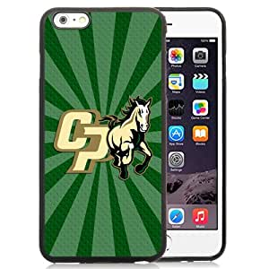Popular And Durable Designed Case With NCAA Big Sky Conference Football Cal Poly Mustangs 7 Protective Cell Phone Hardshell Cover Case For iPhone 6 Plus 5.5 Inch Phone Case Black