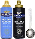 Ghirardelli - Sea Salt Caramel and Chocolate Flavored Sauce (Set of 2) - with Limited Edition Measuring Spoon