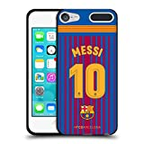 Official FC Barcelona Messi 2017/18 Players Home Kit Group 1 Black Soft Gel Case for Apple iPod Touch 5G 5th Gen