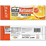 InstaKetones 11.7g GoBHB Per Protein Bar (Orange Burst) (Caffeine-Free) (12 Bars) Exogenous Ketones