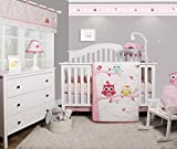 crib bumper owl girl - GEENNY OptimaBaby Enchanted Owls Family 6 Piece Baby Girl Nursery Crib Bedding Set