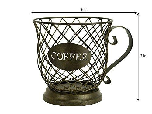 Kup Keeper Coffee & Espresso Pod Holder, Coffee Mug Storage Basket by Boston Warehouse by Boston Warehouse (Image #3)