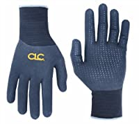 CLC Custom Leathercraft 2039M Sandy Foam Nitrile Dipped Palm Gloves with Pu Dots , Medium