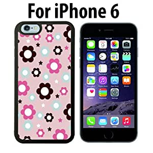 Pink Flower Prints Custom Case/ Cover/Skin *NEW* Case for Apple iPhone 5C - White - Rubber Case (Ships from CA) Custom Protective Case , Design Case-ATT Verizon T-mobile Sprint ,Friendly Packaging - Slim Case