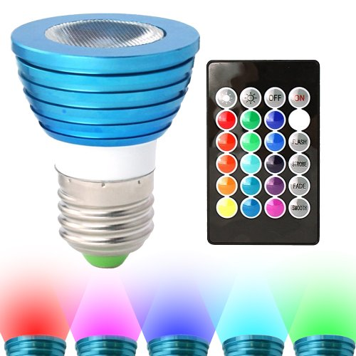 Mr16 3W 3 Led Blue Light Bulb