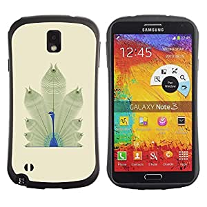 "Hypernova Slim Fit Dual Barniz Protector Caso Case Funda Para Samsung Note 3 [Plumas de aves minimalista África""]"