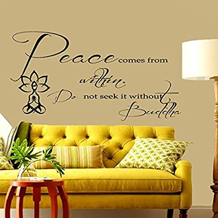 Wall Decals Quotes Peace comes from Within Buddha Quote Vinyl ...