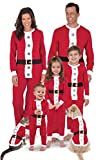 PajamaGram Santa Suit Christmas Matching Family Pajama Set, Red