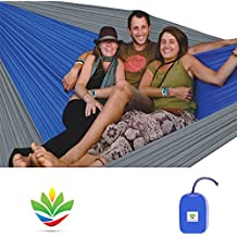 """Hammock Bliss Triple - The Largest Portable Hammock on Planet Earth - Best Camping Hammock for Couples, Great for Tall People, Ideal for Families - Integrated Suspension 100"""" / 250 cm Rope Per Side"""