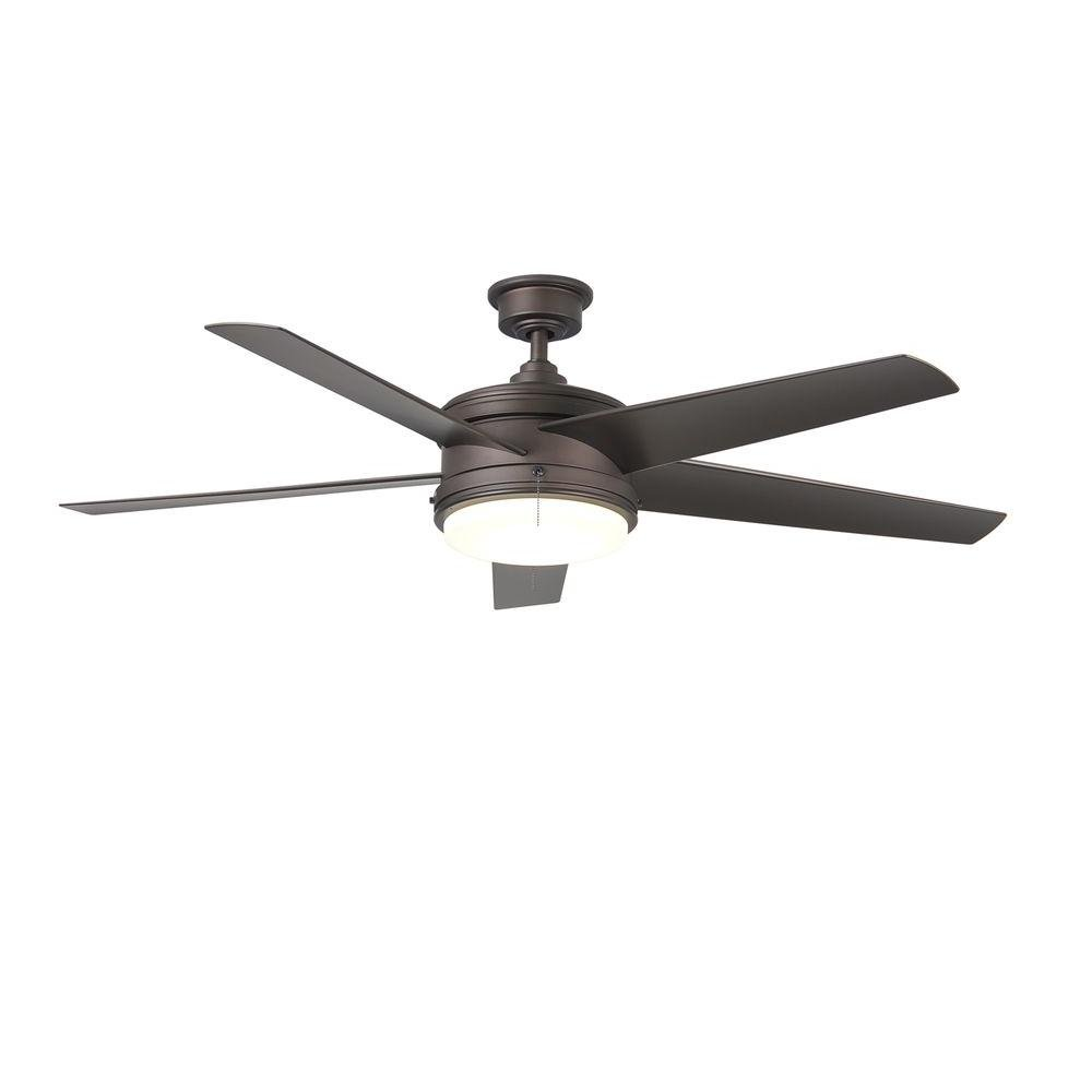 Home Decorators Collection Portwood 60 in. LED Indoor/Outdoor Espresso Bronze Ceiling Fan