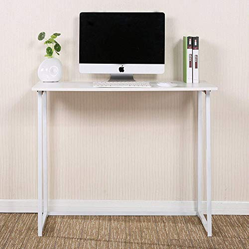 (TNPSHOP Laptop Desk Folding Computer Table Home Stable Computer Book Stand Tray White)