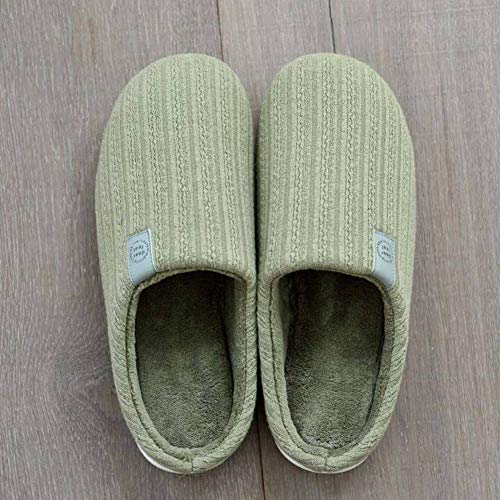 Anti Cloth Indoor Foam Cotton Army Slippers House Skid Knit Green Memory Women's Outdoor Terry Shoes dYxq0wzz