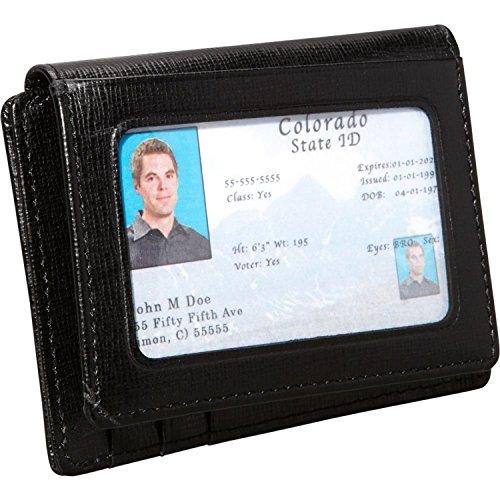 Royce Leather Saffiano Cowhide Money Clip ID Wallet (Black) ()