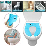 Lywey Cute Animal Folding Non Slip Pads Potty Training Seat Compatible for Kids Toilet Seat Cover Sit Easier