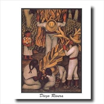 Amazon Com Diego Rivera Corn Harvest Contemporary Wall