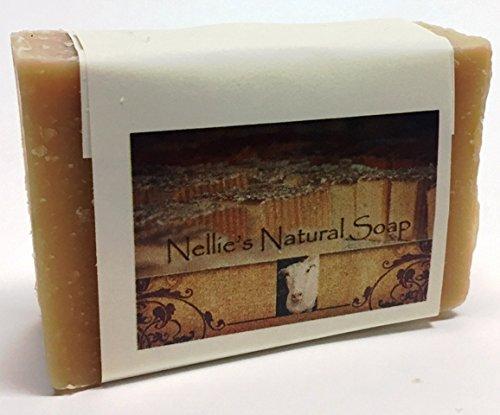 Nellie's Natural Soap Goat's Milk Soap - Almond - 3 bars (Almond Milk Soap)