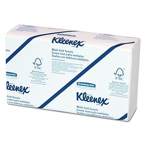 Kleenex 02046 Multi-Fold Paper Towels, Convenience, 9 1/5x9 2/5, White, 150 Per Pack (Case of 8 Packs)