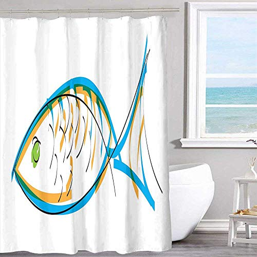 MKOK Waterproof Fabric Shower Curtain 70