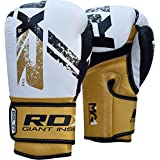 RDX Cow Hide Leather Boxing Gloves Training Sparring Glove Punching Bag Mitts Muay Thai T8