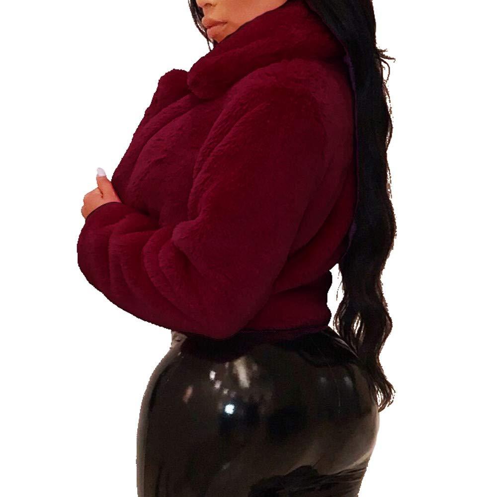 Chaqueta Mujer Ultra Warm Suelto Parka Frio Extremo Pelo Sintetico Cortos Abrigos Elegantes Felpa Vintage