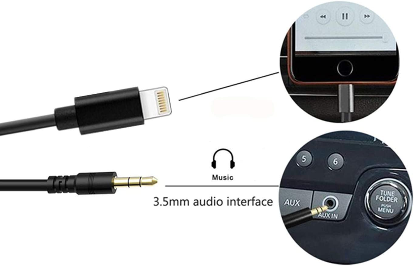 BMW AUX Coiled Cable,3.5mm Jack Audio Music Interface Compatible for iPXs Xs Max XR X 8 7 7 Plus for Selected BMW Mini Cooper Models 6FT Audio