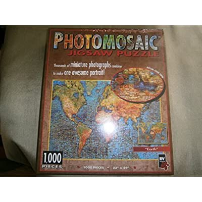 Photomosaic Earth 1000 Piece Jigsaw Puzzle By Bv Leisure