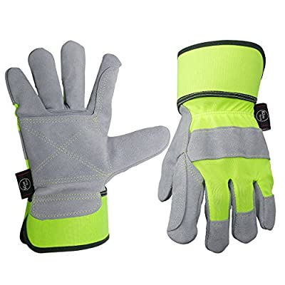 Leather Work Gloves, Perfect for Truck Driving/Yard Work/Gardening/Construction/Warehouse/Motorcycle/Heavy Duty Working, Men&Women XL