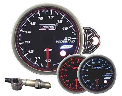 Wideband Air Fuel Ratio Gauge, Prosport Halo Series 52mm (2 1/16