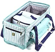 Beach Bag Tote Set with Removable Insulated Cooler and Two Microfiber Beach Towels - Plenty of Room to Comfort