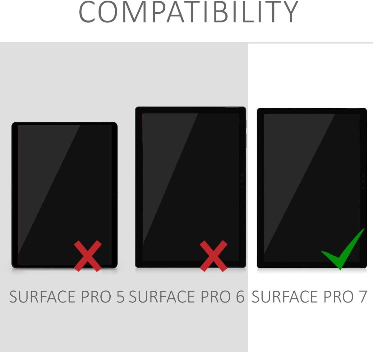Stand Case Magnetica Tablet kwmobile Cover Compatibile con Microsoft Surface PRO 7 Custodia in Pelle PU Utilizzabile con Type Cover Keyboard