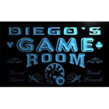 PL640-b Diego's Game Room Boy Man Bar Light Bar Beer Neon Sign