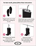 Boot Organizer: The Boot Rack Garment & Boot Rack - Fits in Most Closets