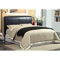Furniture of America Tracy Leatherette Full-to-Queen Conversion Upholstered Headboard, Dark Espresso