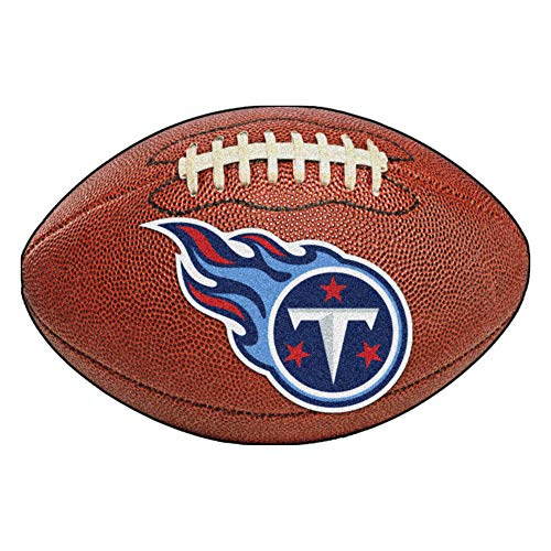 FANMATS NFL Tennessee Titans Nylon Face Football Rug ()
