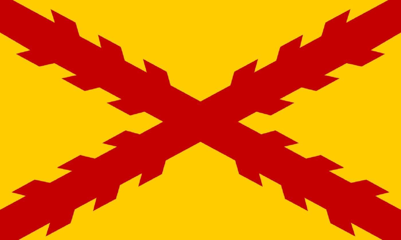 Durabol Bandera De Tercios Morados Viejos Cruz de Borgoña 150 x 90 ...