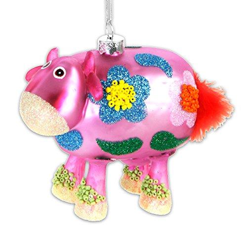 Baumschmuck Christbaumkugeln Pop Art Kuh, Frosch, Schaf, Schwein, Schaf, Eistüte, Fisch aus Glas (Schaf)