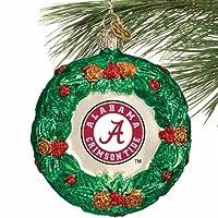 NCAA Alabama Crimson Tide Glass Wreath Ornament