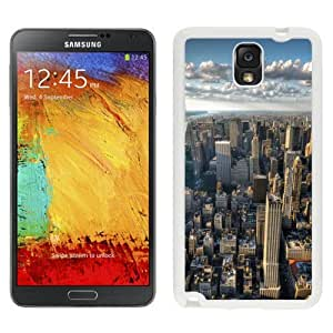 NEW Unique Custom Designed Samsung Galaxy Note 3 N900A N900V N900P N900T Phone Case With New York City Skyline Clouds_White Phone Case