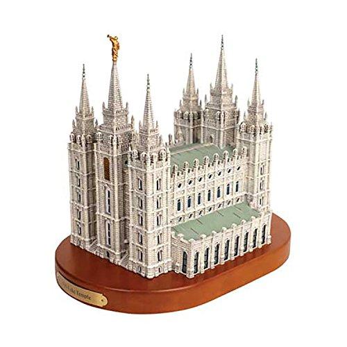 S40W - Salt Lake City Temple Replica on wood base Statue ()