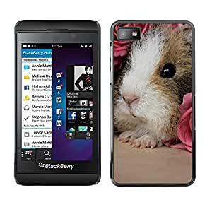 Impact Case Cover with Art Pattern Designs FOR Blackberry Z10 Hamster Guinea Pig Rodent Pink Roses Cute Betty shop