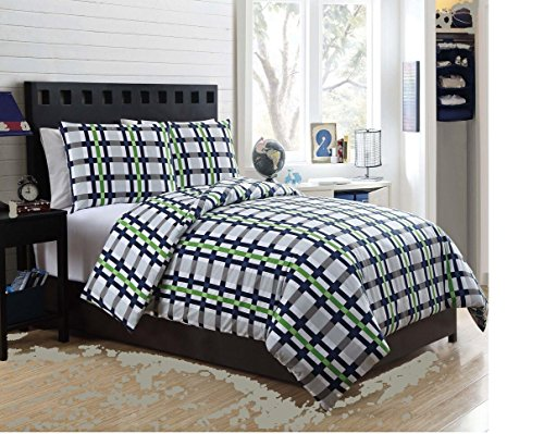 7 Pc, Boys Bed in a Bag, Full Size Bedding, by Karalai Bedding Collection