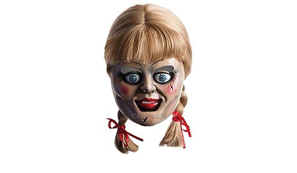 De hombre de mujer oficial Annabelle Doll Máscara con peluca Halloween: Amazon.es: Juguetes y juegos