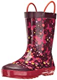 Kamik Girls' Flutter Rain Boot, Dark Purple, 11 M US Little Kid