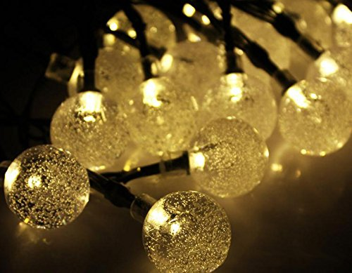 Solar Crystal Ball String Lights LED Fairy Globe Lighting...