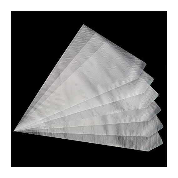 "Pastry bags,yookat 100pcs 12 inch disposable icing decorating bags baking supplies for cupcakes cookies candy pastry… 4 clear strong material:pastry bags are made of soft and transparent but extremely resistant plastic,strong and flexible,can withstand powerful extrusion. Clear plastic icing bags ideal for decorating projects that require different color icings at same time. You can distinguish and pick the correct one easily and and convenient to see how much frosting remained. Large size save your time: the size about 12""x8. 3""x13. 8""(30. 5cm × 21cm × 35cm), 13inch size is perfect for big cake piping projects,allow you keep dispensing consistently, allow you to fill each bag with more icing each time, no need to refill frequently. Height 32cm, which is enough for what you do (cabbage, butter cream, duchess potatoes, stuffed cannelloni). Easy to use and handle: the surface of the bags is not smooth, it is much rougher with particles design. They're easy to handle and hold it. It is not slippy for grip it. Perfect cake decorating supplies icing bags for bakey beginner, baker or cake decorating lover."