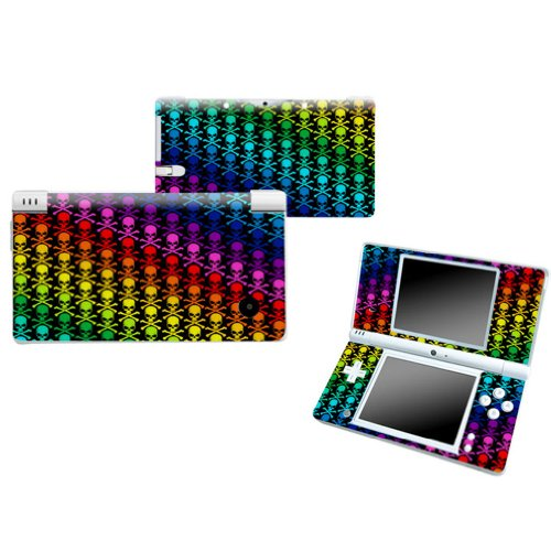 RAINBOW SKULL Nintendo DSI NDSI Vinyl Skin Decal Cover Sticker +Screen Protectors