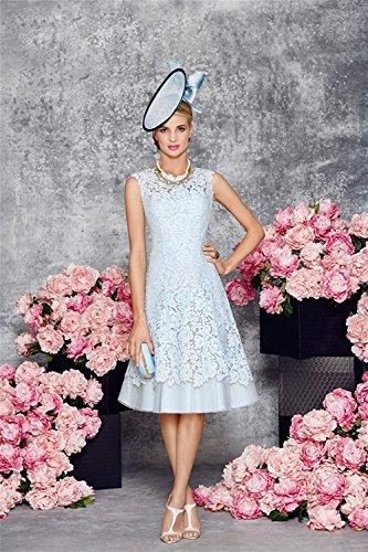 Dressvip halbe Frauen hellblaue Blau Kleider Stück 2 Spitze Brautmutter Hülsen qvSZSpA4xw