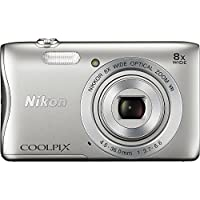 Nikon COOLPIX S3700 Digital Camera with 8x Optical Zoom and Built-In Wi-Fi (Silver)(Certified Refurbished)